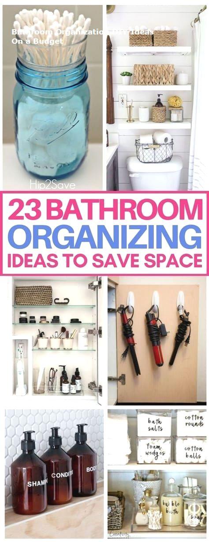Great Bathroom Storage Solutions and Organization Ideas #bathroom #Living