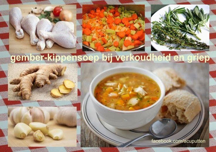 Gember-kippensoep voor een goede weerstand tegen verkoudheid en griep