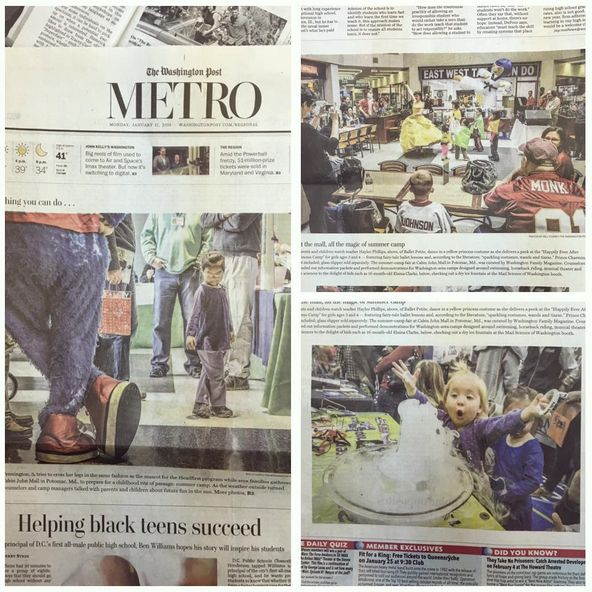 We're so excited our camp fair was featured in The Washington Post! Thank you to everyone who made this an amazing event! We have another one THIS Saturday! See www.washingtonfamily.com for details!