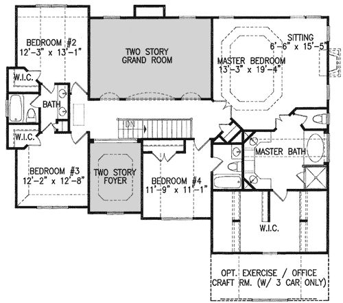 Mountain Craftsman House Plans: Plan 15720GE: Two-Story Rooms