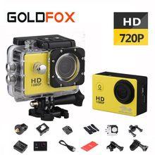 GOLDFOX 720 P HD cámara de Acción deportiva 1.5 Pulgadas LCD DV Deporte cámara Ir a prueba de agua Pro Bicicleta Casco Cámara Mini con el Embalaje al por menor
