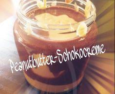 Rezept Peanutbutter - Schokocreme ~ Erdnussbutter - Schokoaufstrich von sunnyschlue - Rezept der Kategorie Saucen/Dips/Brotaufstriche