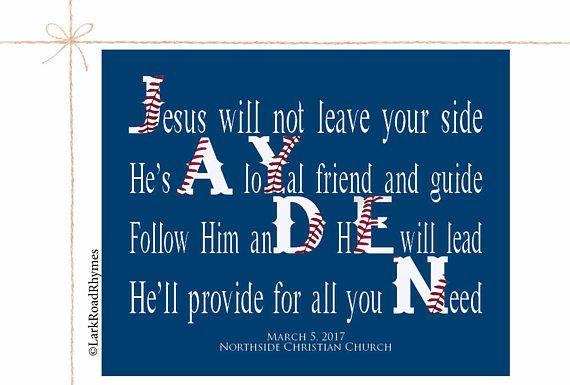Personalized Baptism Gift For Boy Christening Gifts Godchild