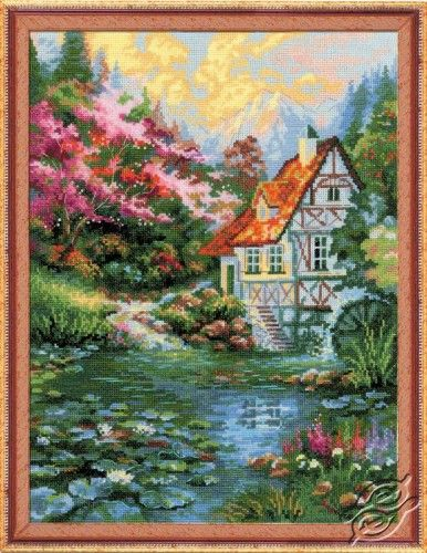 The Water Mill by Riolis, counted cross stitch kit