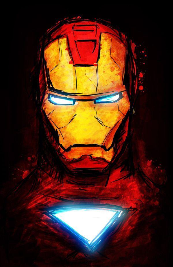 desenho iron man