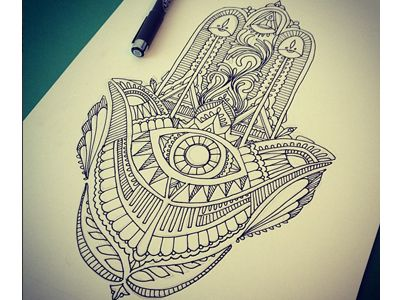 Possible tattoo inspiration. Hamsa.