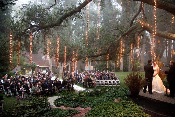 Outdoor Weddings Do Yourself Ideas: I Love The Falling Lights That Look Like They Are Glowing