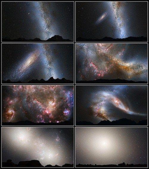 Ilustrasi tabrakan Galaksi Bima Sakti dan Galaksi ANdromeda. Kredit : NASA   SpaceNesia - Tabrakan antara galaksi Bimasakti dan Andromed...