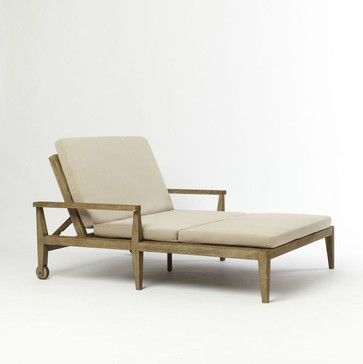 Jardine Double Lounger   Contemporary   Outdoor Chaise Lounges   West Elm