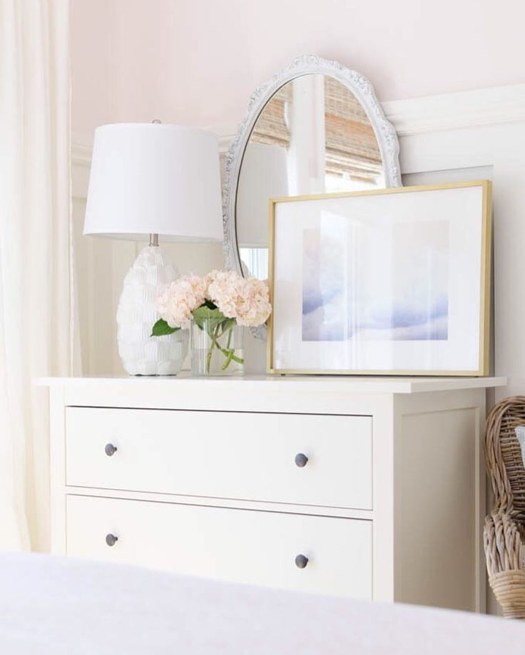 Top Of Dresser Decor And Styling For Little Girl S Blush Bedroom