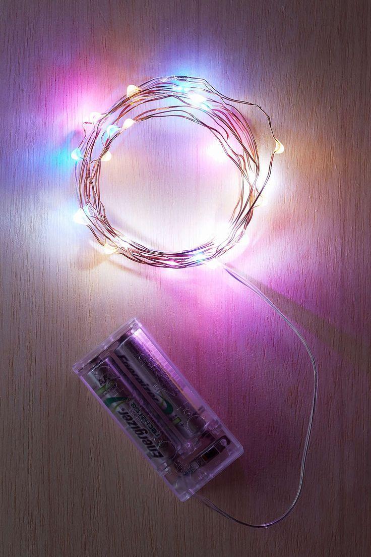 String lights for kids bedroom - Multicolor Firefly Battery Powered String Lights