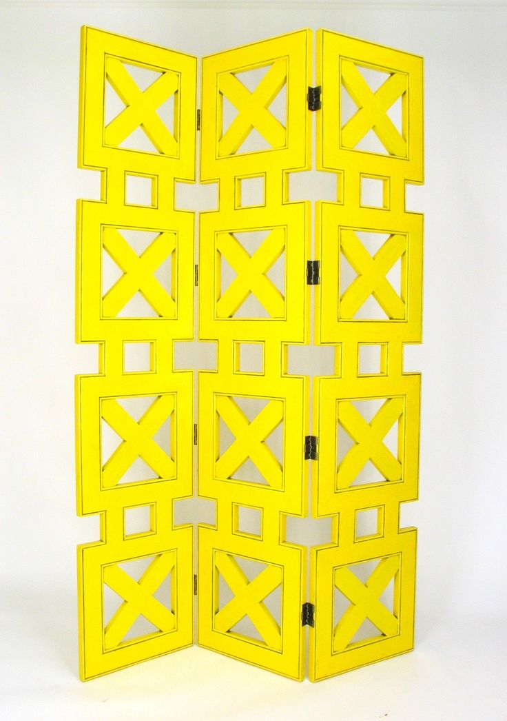"78"" X 54"" Stacked Crate 3 Panel Room Divider"
