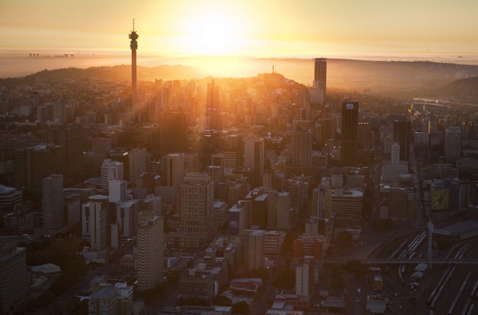 Johannesburg sunrise... hope to see one again.  For visit, hire a car from : www.carrentaljohannesburgairport.com