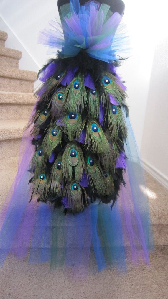 LOVE this for my peacock halloween costume!!! | More outfits like this on the Stylekick app! Download at http://app.stylekick.com