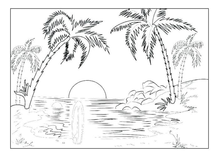 Summer Free Coloring Pages Coloring Pages Nature Beach Coloring Pages Summer Coloring Pages