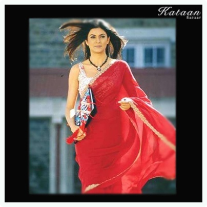 #Sushmita Sen looking gorgeous in a RED saree