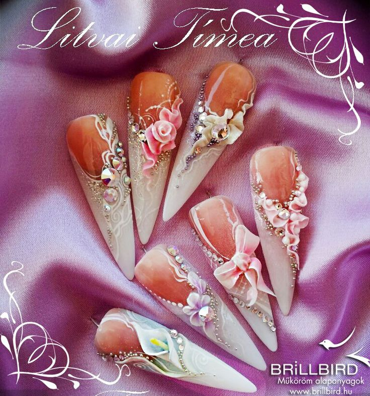 more brillbird nails this time wedding designs. would love to trial some of these