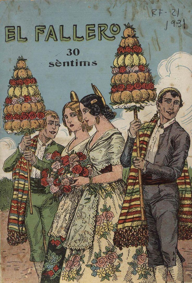 Cubierta de la revista El fallero,  nº 11, año 1931