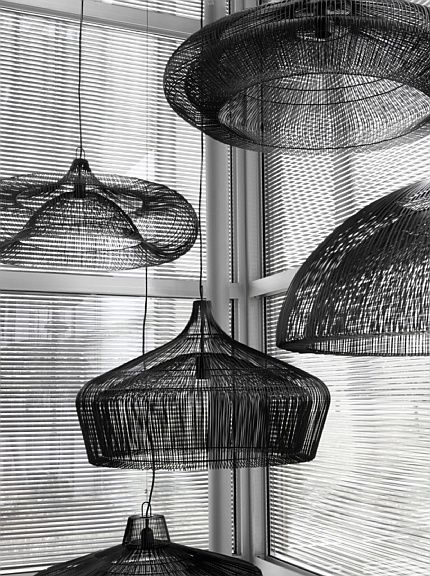 black pendant lamps