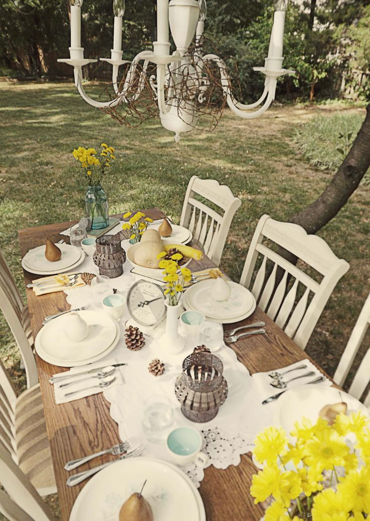 17 best ideas about country table settings on pinterest - Decoration de table vintage ...