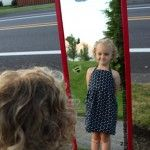 Make a Growth Chart Mirror -- Will make fun pictures too