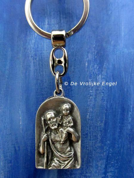 Christoffel sleutelhanger (reliëf) - De Vrolijke Engel