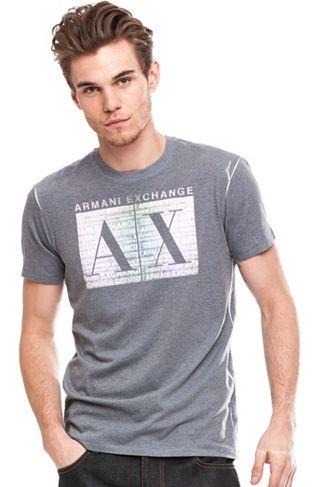 Faded Box Logo TeeOnline Exclusive - Tee Shirts - Mens - Armani Exchange