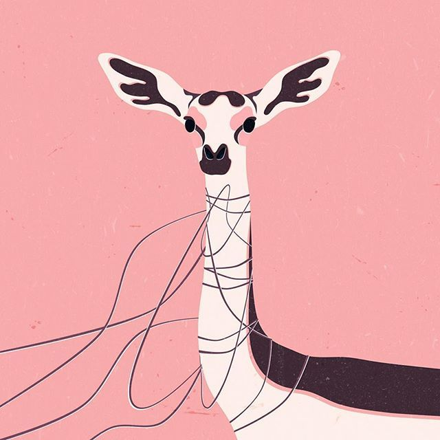 Garbage Couture. #illustration #personalproject #artdirection #gerenuk #animals #garbage #waste #sustainability #wilderness #wildlife #afrika #nature #stopplastic #noplastic #pixelmator #pixelmatorapp  #freelance #illustrator #ecology #environmental #issues #art
