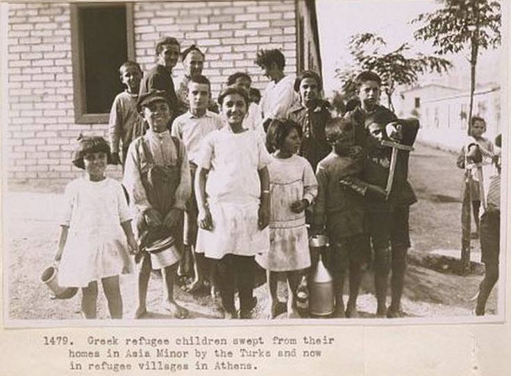 Refugee children from Asia Minor in Greece