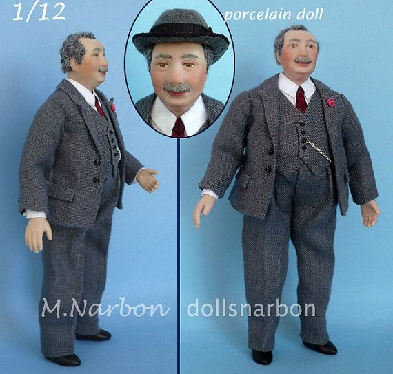 Mr. Chubby 1910 to 1940 porcelain doll 1:12