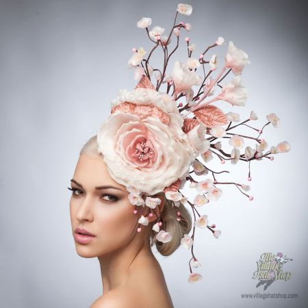 Okay, I love this, off to Michael's I go for giant peonies and such...I'm making my own pillbox fascinator flower monstrosity.
