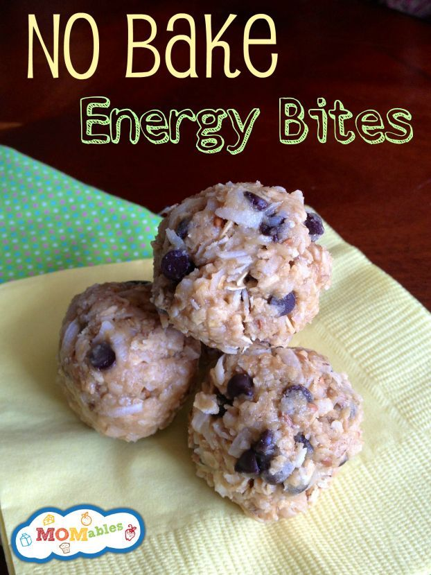 These No-Bake Energy Bites are perfect for the lunch box from  #lunch #recipes #ideas #kids