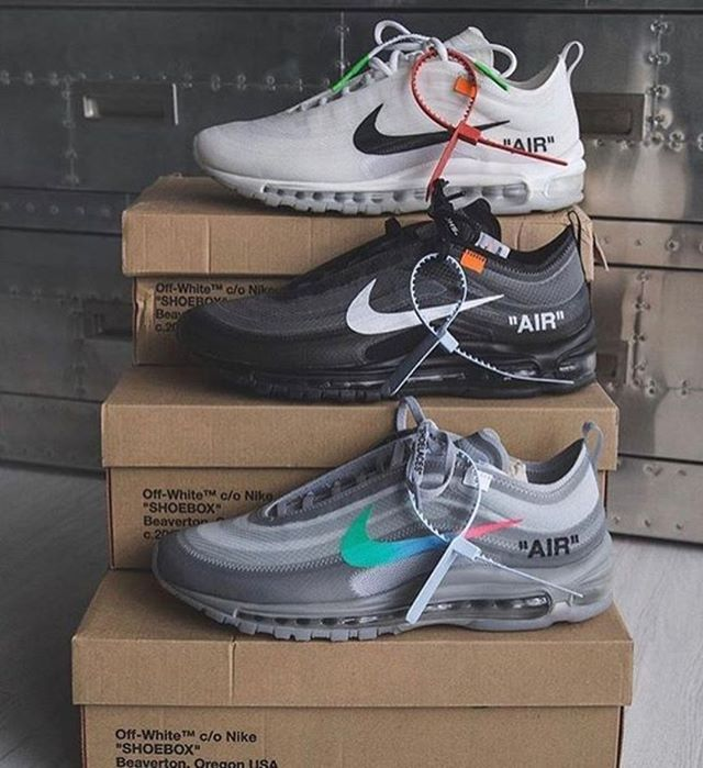UA Air Max 97 OFF-WHITE. Which Color? #houseofheat #sneakerheads  #sneakernews #streetfashionstyle #offwhite… | Shoes sneakers nike, Sneakers  men fashion, Hype shoes