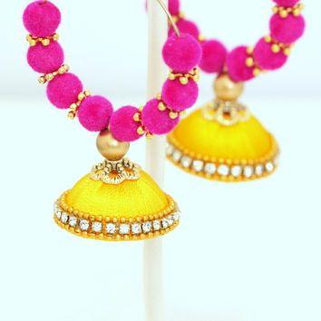 Silk Thread Bali Jhumka Earring