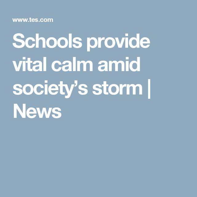 Schools provide vital calm amid society's storm | News