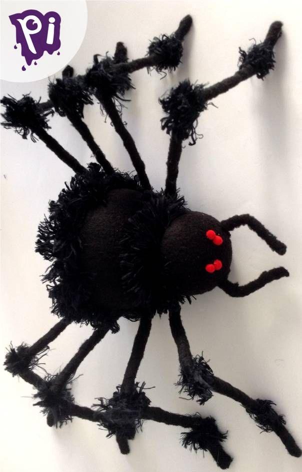 araña, grande, aprende como hacerla, Hazlo tu mismo, terror, miedo, decoración de casa hogar, jardín, para halloween, día de muertos, spider, handmade, DIY, manualidades, bricolaje, pintaideas.