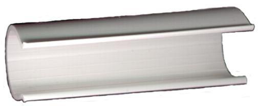 Sujetador de Mallas o Plasticos Para Tuberia. Acoples especiales de PVC para estructuras.