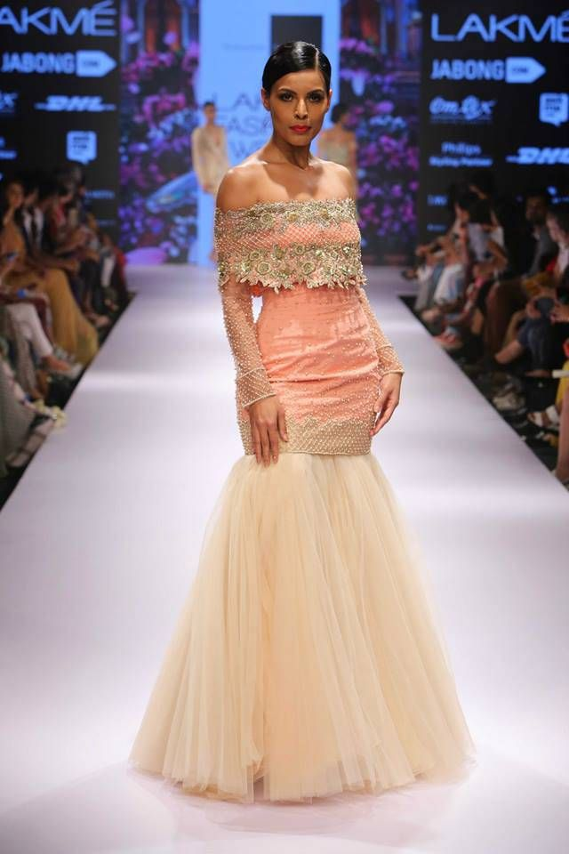 How pretty is this gown? Seen at Lakme Fashion Week 2015