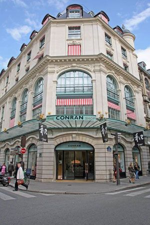 The wonderful Conran Shop Paris opened in 1992 in the historic Bon Marche building designed by Gustave Eiffel