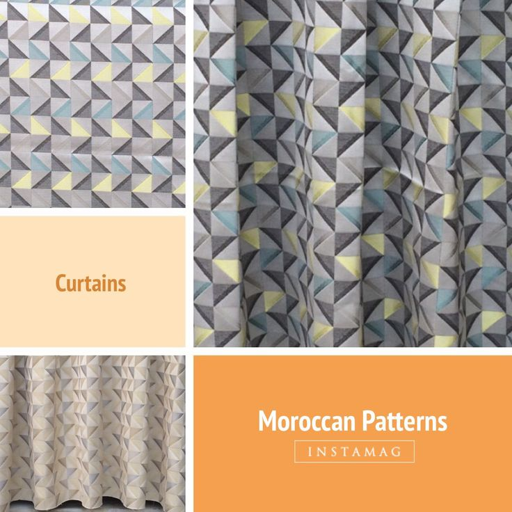 I love Moroccan Designs - this timeless geometric pattern will blow you over. Available In two colors - beige and grey. Only on Fabricmart!! Shop Now!!
