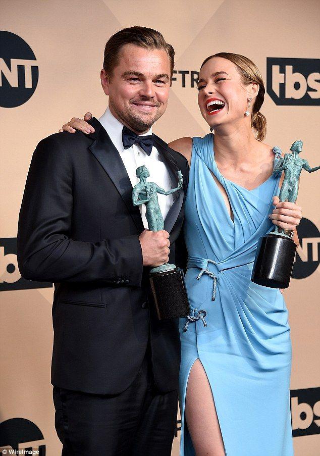 Brie Larson & Leonardo DiCaprio