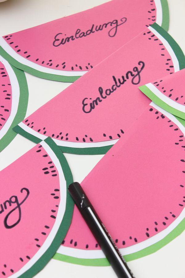 """Mit HiPP Eiszapfen wird der Kindergeburtstag zum Renner & DIY-Einladungskarte """"Wassermelone"""""""