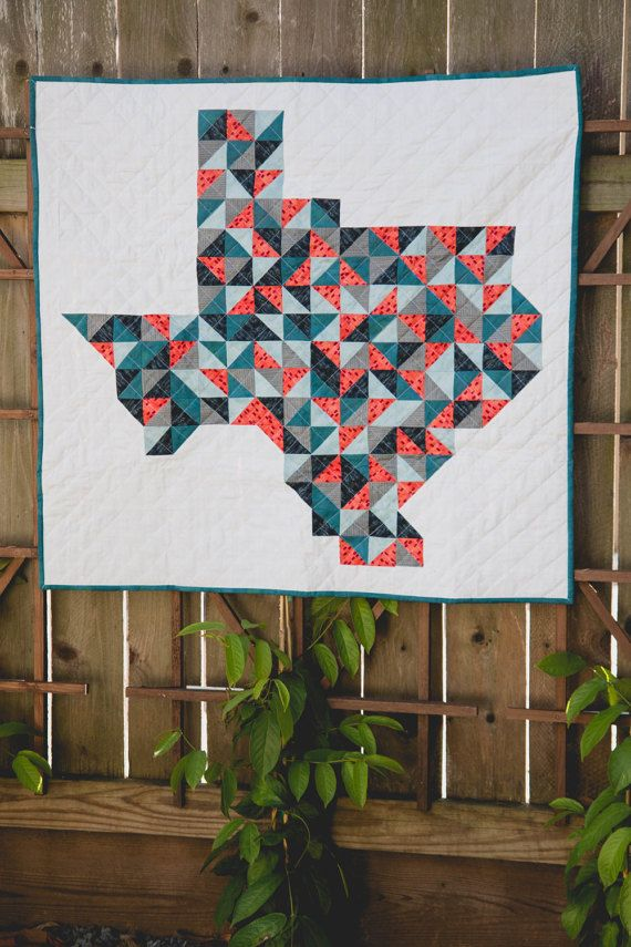 TEXAS Quilt: MADE to ORDER | Modern Baby Quilt | Toddler Quilt | Baby Blanket | Handmade Baby Quilt | Baby Quilts for Sale | Nursery | Quilt