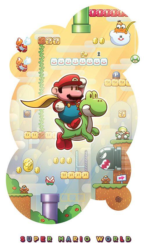 Super Mario World - Alex Riegert-Waters: Illustration & Design