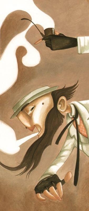 Daniela Volpari   Oliver Twist illustrations - Fumo giu