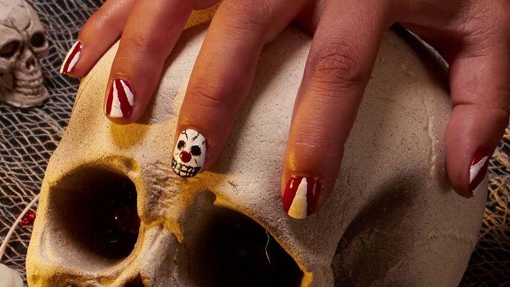 Nail Art Halloween circo spaventoso