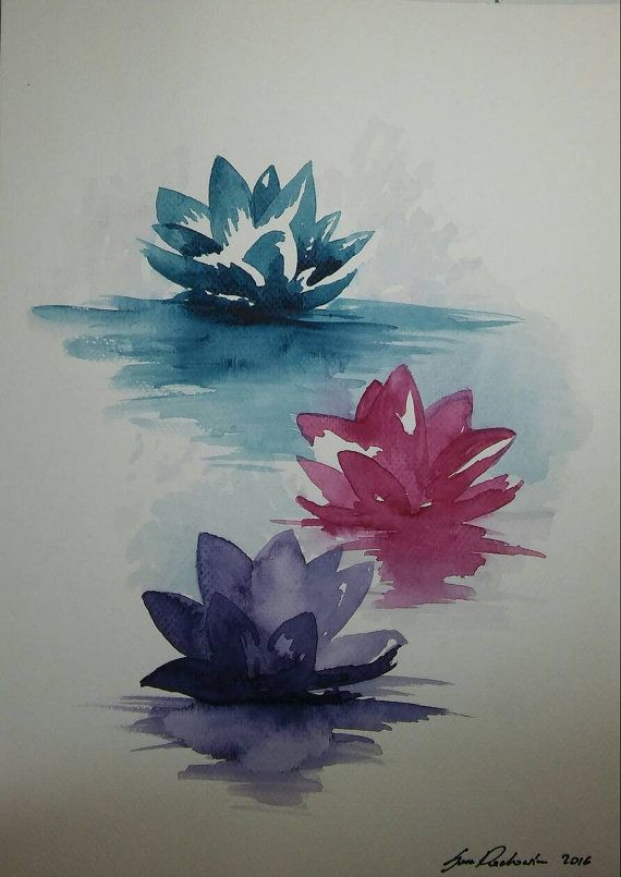 Check out this item in my Etsy shop https://www.etsy.com/listing/478748221/water-lilies-original-watercolor