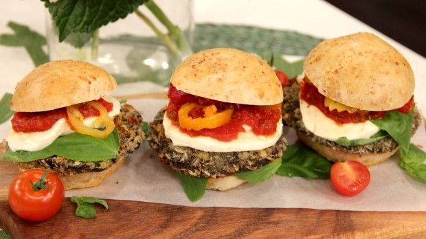 Mushroom Parmesan Sliders