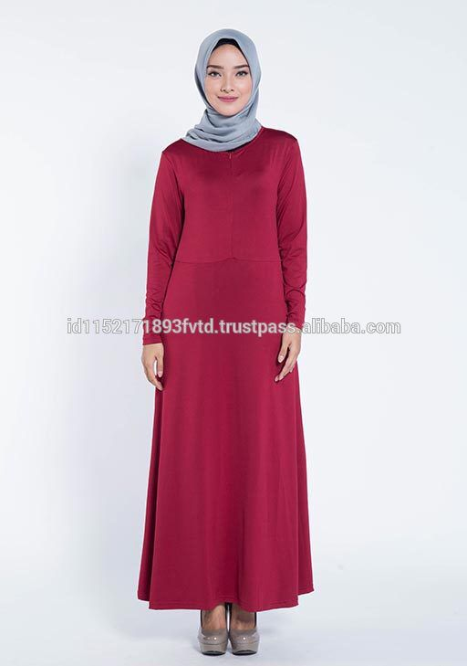 New Model Dress Elzatta Gamia Adela (Nursing Wear) Maroon Hijab For The World