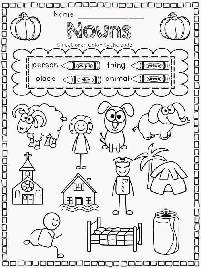Printable Coloring Pages For Kids Kindergarten Printable Worksheets Noun P Kindergarten Worksheets Printable Kindergarten Language Kindergarten Language Arts